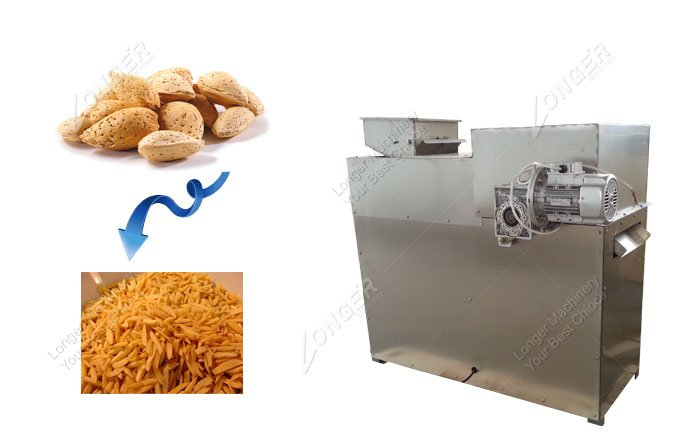 China Peanut Almond Strip Cutting Machine for sale